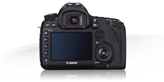 Canon 5D mk III body back