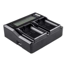 Зарядное устройство DC-LCD двухканальное для АКБ SONY NP-F, NP-FM